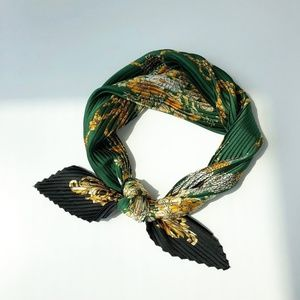 Fashion Square Fold Scarf Kerchief Silk Head Wrap